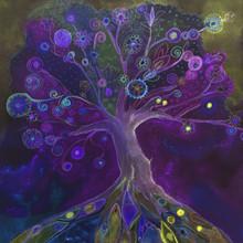 Folk Art Tree In The Blue Hour...