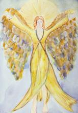 Feminine Angel With Long Dress...