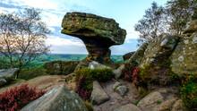 The Druid's Writing Desk At Brimham Rocks