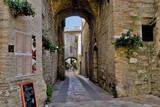 Fototapeta Uliczki - Street of the medieval Quarter of the City Assisi , Italy.