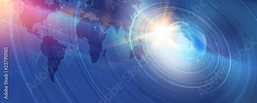 Fotografia  Graphical modern digital world news background