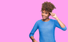 Beautiful Young African American Woman Over Isolated Background Smiling Pointing To Head With One Finger, Great Idea Or Thought, Good Memory