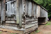 Old Abandoned Wooden Dogtrot Barn