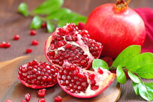 Ripe Red Pomegranates