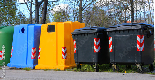 Foto  containers and container for the collection of waste and recyclable material