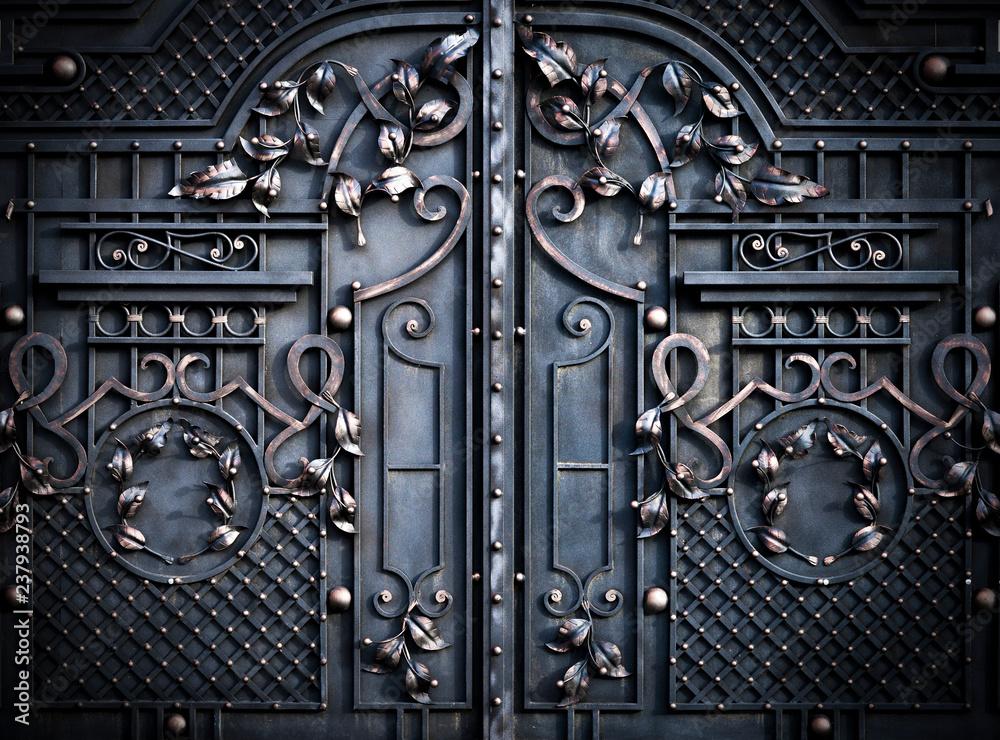 Fototapety, obrazy: large metal gates