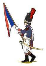 Flag Bearer Of Napoleon