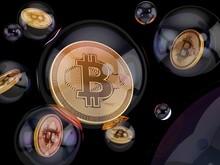 Bitcoin Inside Bubble, Illustr...
