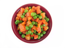 Peas And Carrots In A Bowl Iso...
