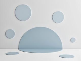 Mock up abstract winner podium room, 3d render, 3d illustration