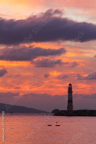 Fototapety, obrazy: Seaside town of Turgutreis and spectacular sunsets