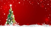 Christmas Tree With Snow Falli...
