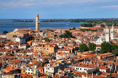 Fotografie, Obraz  Rooftops of Venice seen from St Mark's Campanile, Italy