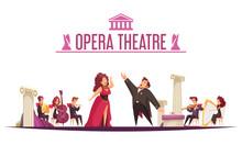 Theater Orchestra Performance Cartoon