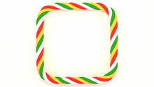 Christmas  Candy Cane Square F...