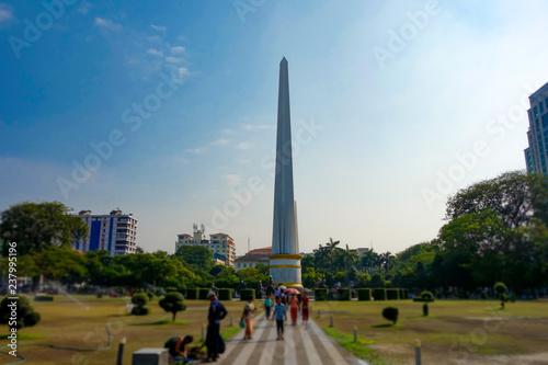 Fotografía  ミャンマー バンドゥラ公園 独立記念塔