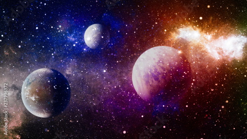 Obraz Fiery explosion in space. Abstract illustration of universe. Elements of this image furnished by NASA - fototapety do salonu