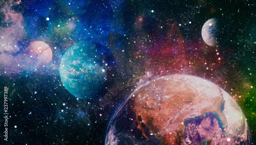 High quality space background. explosion supernova. Bright Star Nebula. Distant galaxy. Abstract image. Elements of this image furnished by NASA. - 237997389