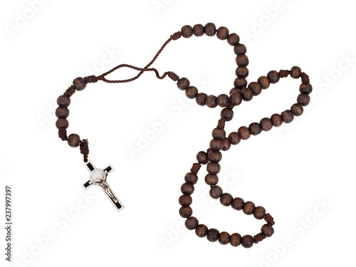 Fotografie, Obraz Rosary isolated on white background