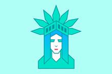 A Portrait Of The Statue Of Liberty, Logo Design.