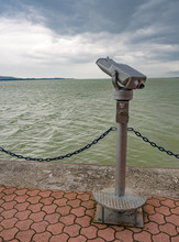 Tower Viewer On Lake Balaton. Keszthely, Hungary.