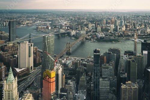 In de dag Centraal-Amerika Landen Aerial view of lower Manhattan