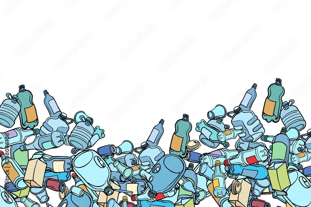 Fototapeta plastic trash. Ecology and pollution