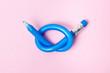 canvas print picture - Flexible pencil on pink background. Bent pencils. Flexible business concept.