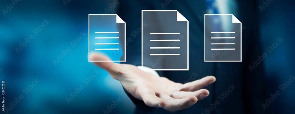 Fototapeta file in screen