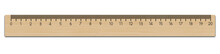 Realistic School Wooden Measuring Ruler 20 Centimeter.