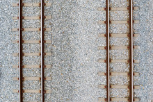 Top View Of Railroad Tracks And Abstract Background