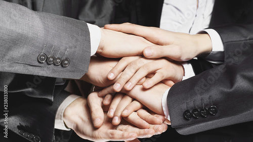 Fotografia  close up.business team with hands clasped together