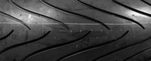 Moto Tire For Powerful Sports Motorcycle. Isolated Background