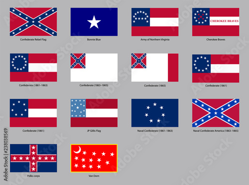 Historic Flags of the Confederate States of America Wallpaper Mural