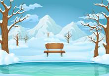 Winter Day Background. Frozen ...