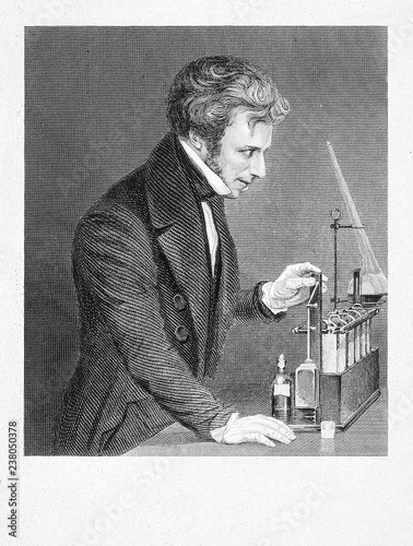 Photo Portrait of the scientist Michael Faraday