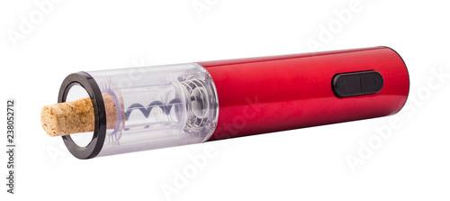 Cuadros en Lienzo Electric corkscrew, isolated on white background