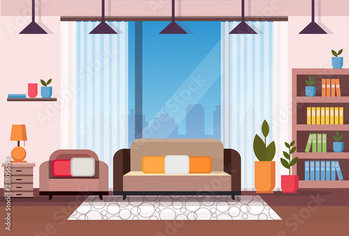Living Room Home Interior Apartment Decoration Concept Flat Horizontal Vector Illustration Buy This Stock Vector And Explore Similar Vectors At Adobe Stock Adobe Stock