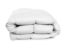 Folded Clean Blanket On White ...