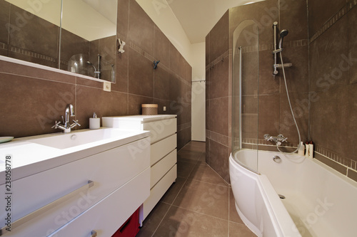 Photo salle de bain appartement bain douche