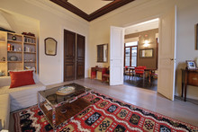 Salon Appartement Ancien Rénové Hauts Plafonds