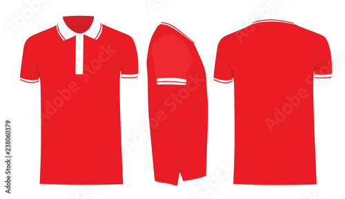 Red Polo T Shirt Template Vector Illustration Buy This Stock