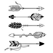 Ethnic Arrows. Hand Drawn Feat...