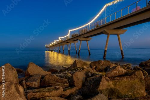 Foto  Bridge with light for christmas