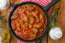 Beef Stew With Tomato Sauce And Cream