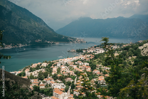 Fotografia  Aerial view of Kotor - a city on the Adriatic coast in Montenegro