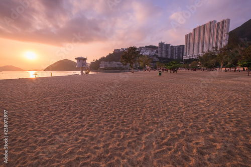 Vászonkép  View of Repulse Bay Beach in sunset time The Repulse Bay at southern of Hong Kon