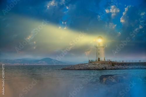 Ingelijste posters Vuurtoren view light of lighthouse