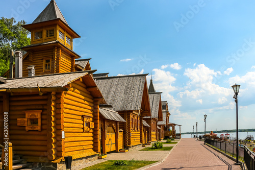 Complex City of Craftsmen on the banks of the Volga River Fototapet