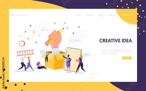 Fotografia Copywriter Creative Pencil Idea Landing Page